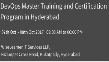 Best DevOps Master Training and Certification in Hyderabad with best trainer