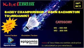 BADDY CHAMPIONSHIP - OPEN BADMINTON TOURNAMENT