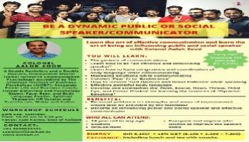 Learn to Be Dynamic Public or Social Speaker with Colonel Aalok