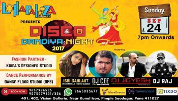 DISCO DANDIYA NIGHT 2017 || Lollapalooza Pune || Sunday 24th