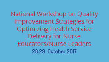 National Workshop On Quality Improvement Strategies