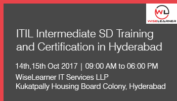 ITIL Intermediate SD Training and Certification in Hyderabad with best trainer