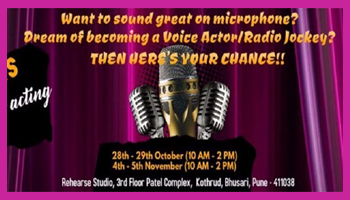 Workshop on Voice Acting, Dubbing and Public speaking