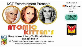 Atomic Kittens Kerry Katona x Liberty Xs Michelle Heaton x Zoe Birkett India Tour 2017 Pune