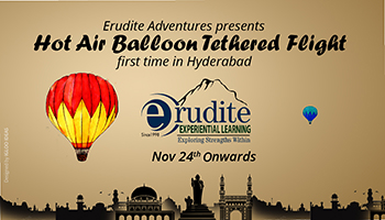 Erudite Adventures Presents-Exciting Winters-Weekend Thrill-Hot Air Balloon Tethered flight,First in Hyderabad