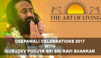Deepawali Celebrations 2017 with GURUDEV Poojya Sri Sri Ravi Shankar