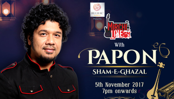 Mirchi live with Papon -Sham-e-Gazal
