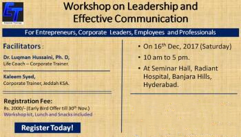 One Day Workshop on Leadership and Effective Communication