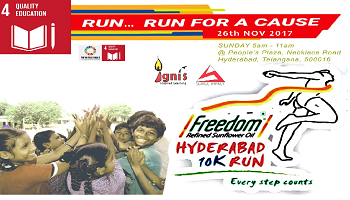 HYDERABAD 10K RUN-IGNIS CAREERS-Sponsor Yearlong educational support to a child