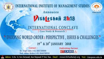 IIMS Pune : International Conclave - Case Study and Research Paper, Vishleshan 2K18