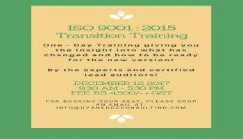 ISO 9001:2015 Transition Training
