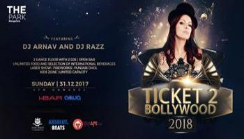 Ticket 2 Bollywood - New Year Party 2018 - The Park Hotel