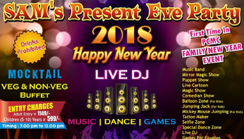 Sam Present New Years Eve Party - 2018