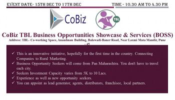 Business Opportunities Showcase and Services (BOSS) in association with TBL from 15th Dec till 17th Dec 2017