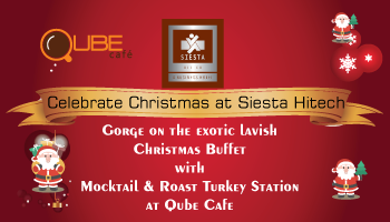 Christmas Eve Dinner and Brunch at Siesta Hitech