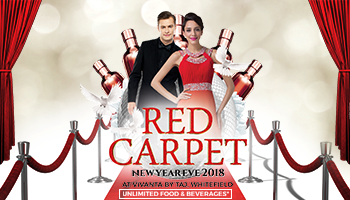RED Carpet new year eve party 2018