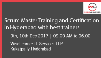 Scrum Master Training and Certification with best trainer in Hyderabad