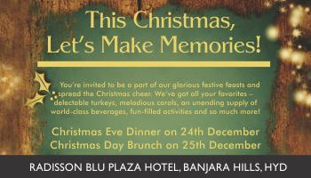 This Christmas lets make Memories at Radisson Blu, Hyderabad