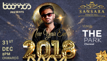 New Year Eve 2018 at Sansara - Banquet Hall, The Park