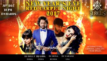 RED CARPET NYE 2017 at CLUB SIRKUS (SAHARA STAR)