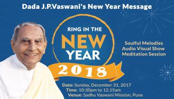 RING IN THE NEW YEAR with Rev. Dada J.P. Vaswani on 31st Dec 2017