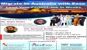 Free seminar For jobs in Australia