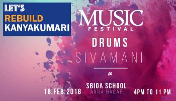 Drums Sivamani Musical Concert