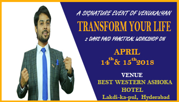TRANSFORM YOUR LIFE BY MR. VENU KALYAN (Life Coach)