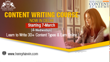Content Writing Course By Henry Harvin Education