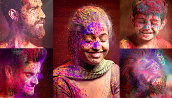 Colourful Pre Holi Photoshoot 2018 by Rishish Pandey