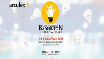 Sub Junior Badminton Tournament - With Arculex/Falcon Badminton Academy