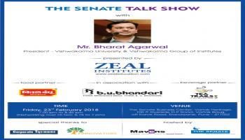 INVITATION - 18th The Senate Talk Show with Mr. Bharat Agarwal President-Vishwakarma University