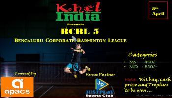 BCBL 5 - Bangalore corporate badminton tournament