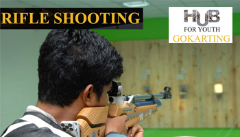 Rifle Shooting at Hub For Youth