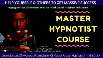 Become Master Hypnotist -Workshop In Mumbai