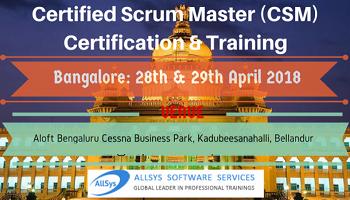 Certified ScrumMaster (CSM) Training in Bangalore