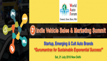 3rd IVSMS - India Vehicle Sales and Marketing Summit by World Auto Forum