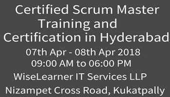 Scrum Master Training and Certification in Hyderabad with the experienced best tutors
