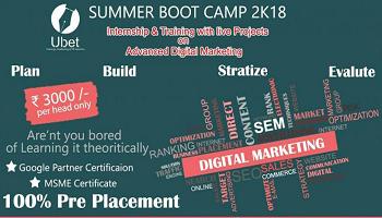 Digital Marketing: Summer Training + Internship