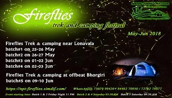 FIREFLIES TREK AT LONAVALA-RAJMACHI 26 MAY BY NISARGPREMITREKKERS