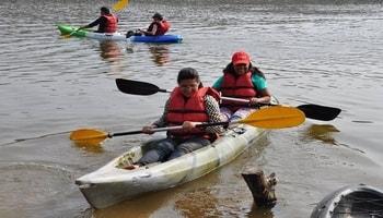 ramanagar trek, zipline, rappelling and kayaking