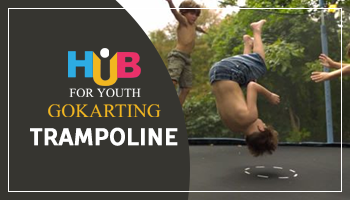 Trampoline at Hub For Youth
