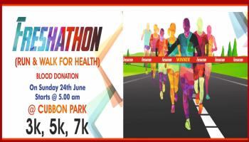 Freshathon (Run and Walk for Health) and Blood Donation