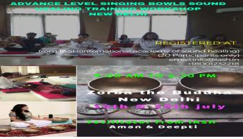 IASH Advance Level Singing Bowls Sound Healing Training Workshop