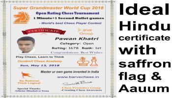 Saurabh Bare Kolkata Open Rating Blitz 5 min bullet 1 min Chess Tournament