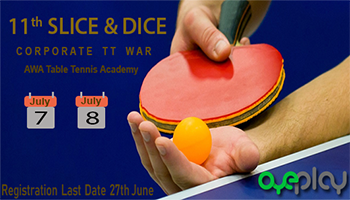 11th Slice and Dice Corporate Table Tennis Tournament -Hyderabad