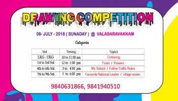Drawing Competition July 8th 2018 @Valasaravakkam Chennai