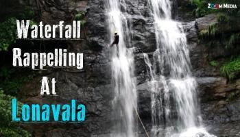 Waterfall rappelling 2018 @ Bekre Waterfall, Near Bhivpuri