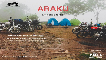 Hyderabad - Araku - lambasingi motor Bike Ride