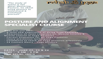 Rehab yoga: Posture and Alignment Specialist Course (New Delhi, India)